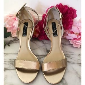 Steven Steve Madden Valor Metallic Cutout Sandals